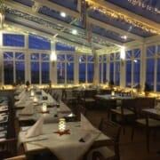 Wintergarten eines Restaurants