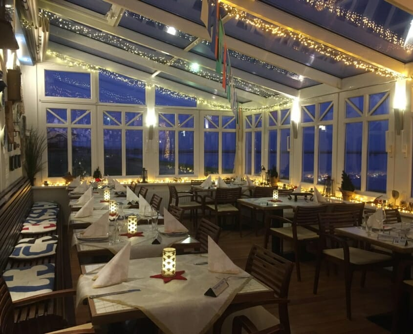 Wintergarten eines Restaurants