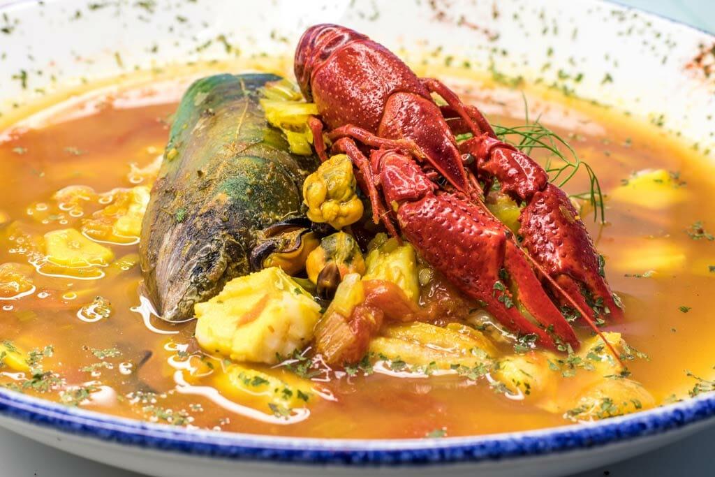Fischsuppe mit Garnele